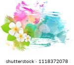abstract tropical grunge... | Shutterstock .eps vector #1118372078