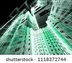 abstract modern architecture | Shutterstock . vector #1118372744