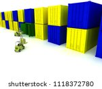 loading of boxes is isolated in ... | Shutterstock . vector #1118372780
