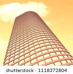 skyscrapers. 3d render. | Shutterstock . vector #1118372804
