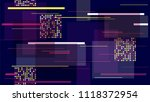fast moving street lights ... | Shutterstock .eps vector #1118372954