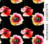 seamless pattern with beautiful ... | Shutterstock . vector #1118376770