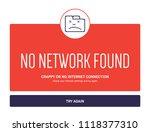 no internet webpage design...   Shutterstock .eps vector #1118377310