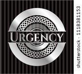 urgency silvery emblem | Shutterstock .eps vector #1118381153