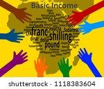 universal basic income   ... | Shutterstock . vector #1118383604