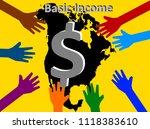 universal basic income   ... | Shutterstock . vector #1118383610