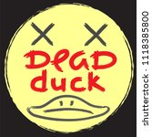 dead duck   emotional... | Shutterstock .eps vector #1118385800