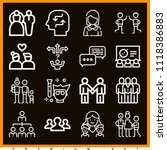 set of 16 people outline icons  | Shutterstock .eps vector #1118386883