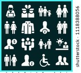 set of 16 man filled icons such ... | Shutterstock .eps vector #1118388056