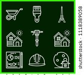 set of 9 construction outline... | Shutterstock .eps vector #1118389058