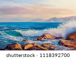Original Oil Painting Of  Sea...
