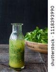 little bottle with homemade...   Shutterstock . vector #1118393990