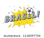 speech bubble brasil with icon... | Shutterstock .eps vector #1118397734
