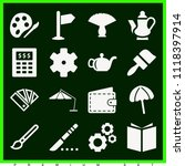 set of 16 tool filled icons... | Shutterstock .eps vector #1118397914