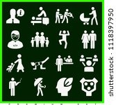 set of 16 people filled icons... | Shutterstock .eps vector #1118397950