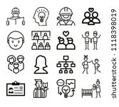 set of 16 people outline icons... | Shutterstock .eps vector #1118398019