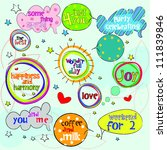cute colorful speech bubbles... | Shutterstock .eps vector #111839846