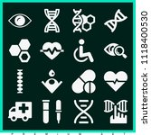 set of 16 medical filled icons... | Shutterstock .eps vector #1118400530