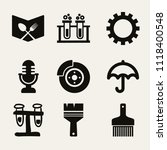 set of 9 tools filled icons... | Shutterstock .eps vector #1118400548