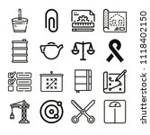 set of 16 other outline icons... | Shutterstock .eps vector #1118402150
