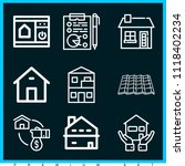 set of 9 home outline icons... | Shutterstock .eps vector #1118402234
