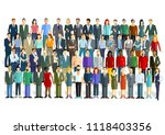 large group of people on white  ... | Shutterstock .eps vector #1118403356