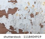old rusty paint metal plate... | Shutterstock . vector #1118404919
