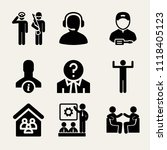 set of 9 people filled icons... | Shutterstock .eps vector #1118405123