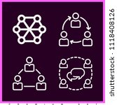 set of 4 group outline icons... | Shutterstock .eps vector #1118408126