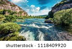 splendid summer view of krka... | Shutterstock . vector #1118409920