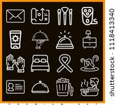set of 16 other outline icons... | Shutterstock .eps vector #1118413340