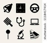 set of 9 tool filled icons such ... | Shutterstock .eps vector #1118417414