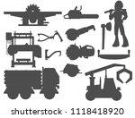 sawmill woodcutter character... | Shutterstock .eps vector #1118418920