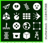 set of 16 shapes filled icons... | Shutterstock .eps vector #1118419088