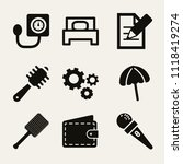 set of 9 tools filled icons... | Shutterstock .eps vector #1118419274