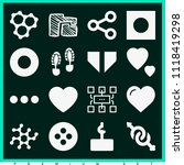 set of 16 shapes filled icons... | Shutterstock .eps vector #1118419298
