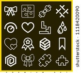set of 16 shapes outline icons... | Shutterstock .eps vector #1118420090