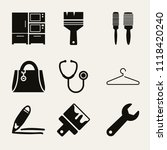 set of 9 tools filled icons... | Shutterstock .eps vector #1118420240
