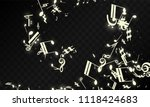 miracle musical notes on black... | Shutterstock .eps vector #1118424683