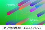 colorful background with simple ... | Shutterstock .eps vector #1118424728