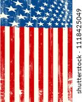 a grunge american poster | Shutterstock .eps vector #1118425049
