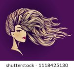 hair salon and makeup studio... | Shutterstock .eps vector #1118425130