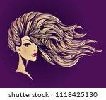 hair salon and makeup studio... | Shutterstock .eps vector #1118425130