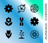 vector icon set about gardening ... | Shutterstock .eps vector #1118432000