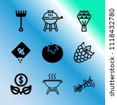 vector icon set about gardening ... | Shutterstock .eps vector #1118432780