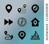 vector icon set about location... | Shutterstock .eps vector #1118432828