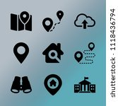 vector icon set about location... | Shutterstock .eps vector #1118436794