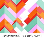 multicolored abstract geometric ... | Shutterstock .eps vector #1118437694