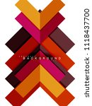 multicolored abstract geometric ... | Shutterstock .eps vector #1118437700