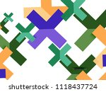 multicolored abstract geometric ... | Shutterstock .eps vector #1118437724